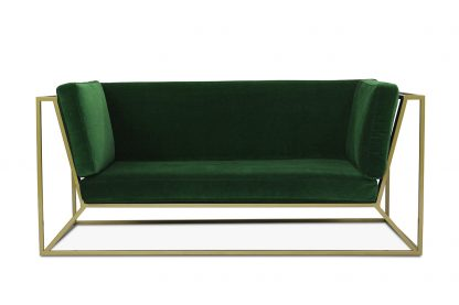 Sofa Agueda w kolorze butelkowej zieleni