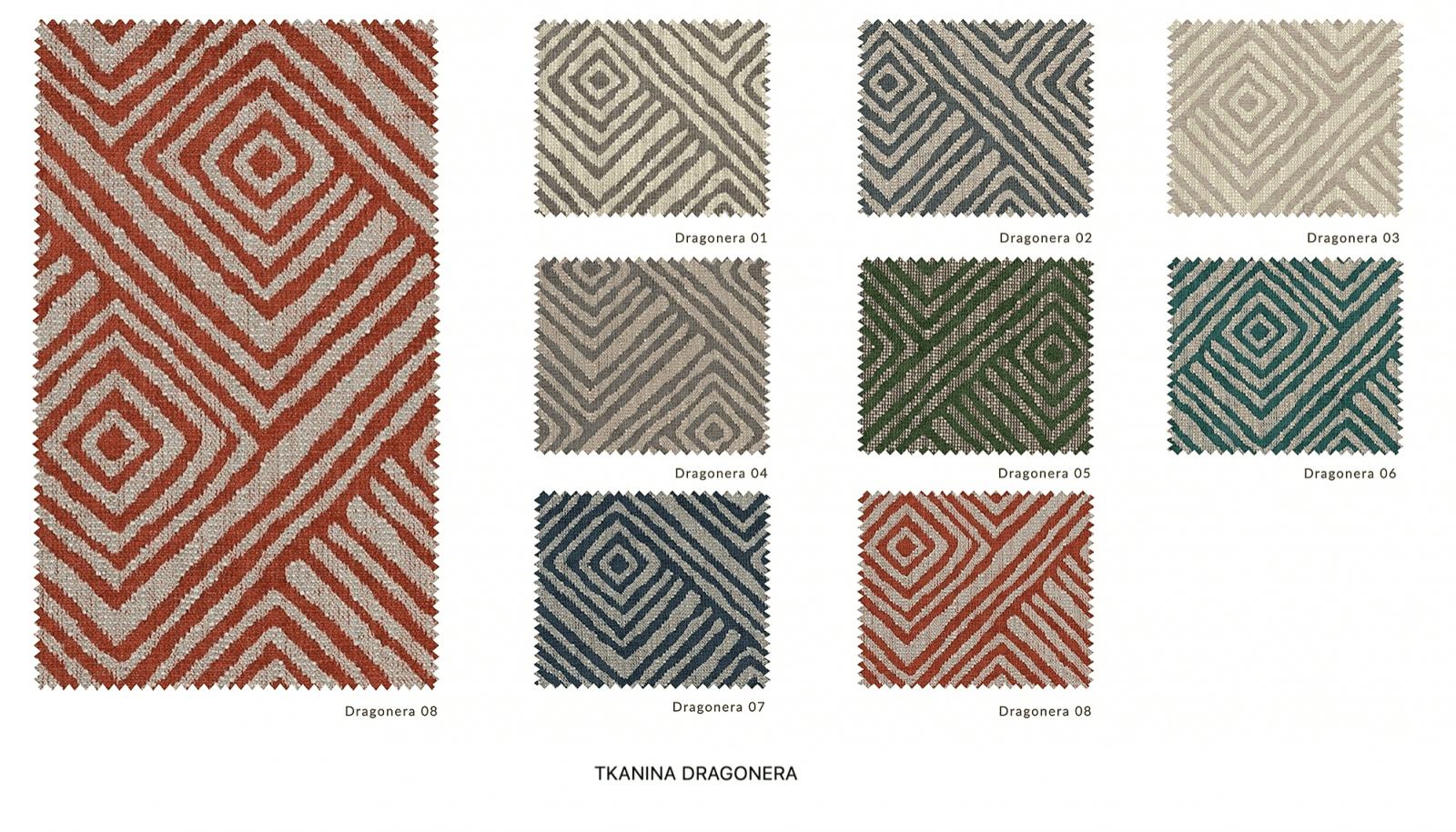wzornik tkanin dragonera