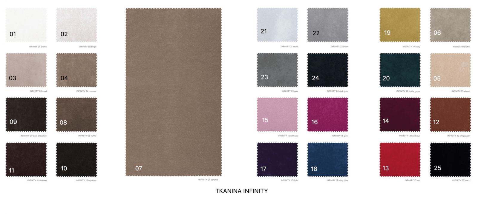 wzornik tkanin infinity sofa agueda
