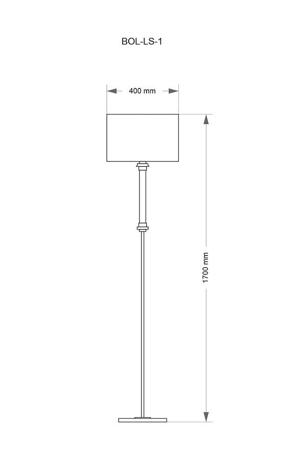 Wymiary lampy stojącej BOL-LS-1