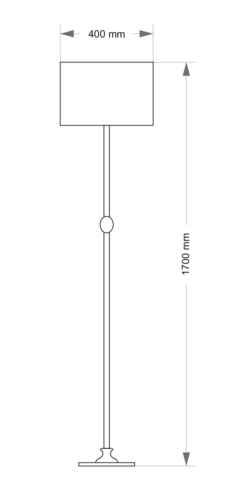 Wymiary lampy stojącej TIV-LS-1