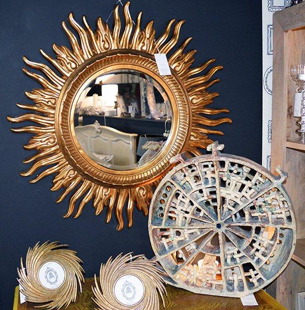 lustro słońce - idealne lustro w pięknym stylu - lustra