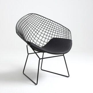 Krzesła Czarne krzesło Corazon z poduszką