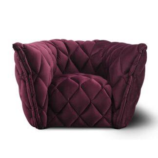 Fotele Fotel Goldy z przeszyciami
