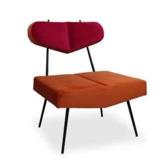 Fotele Fotel Bayardo na metalowych nogach