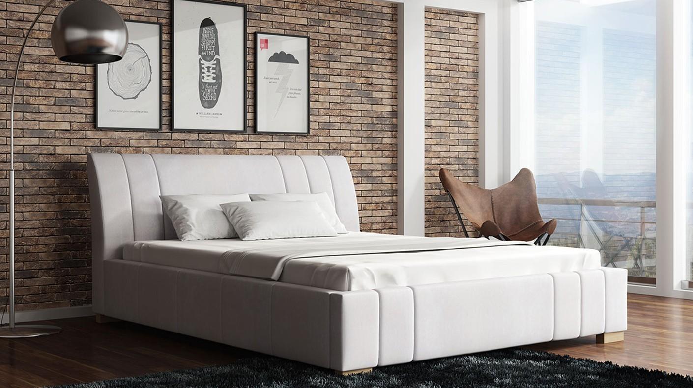 tapicerowane łóżko roma