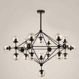 Lampy wiszące Żyrandol Alita czarny