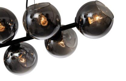Lampy wiszące Żyrandol Maite przydymiony