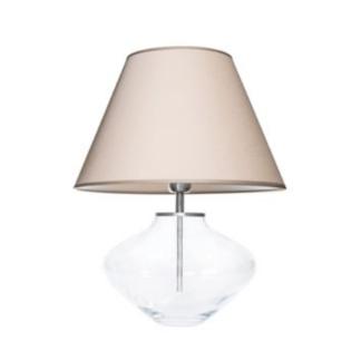 szklana lampa stolowa
