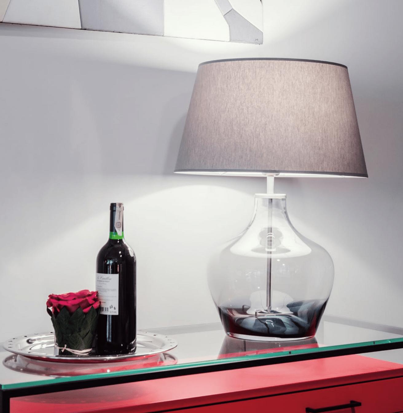 lampa stolowa szklana