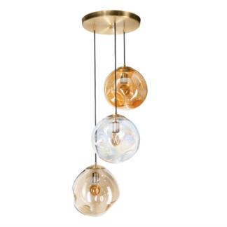 lampa ze szklanymi abazurami