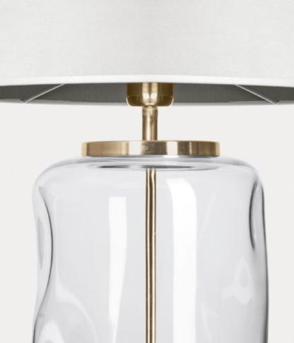 lampa szklana stolowa