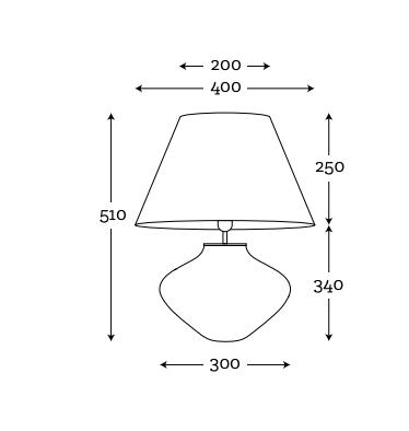 wymiary lampy stolowej